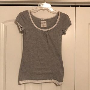 Energie size small gray and white top